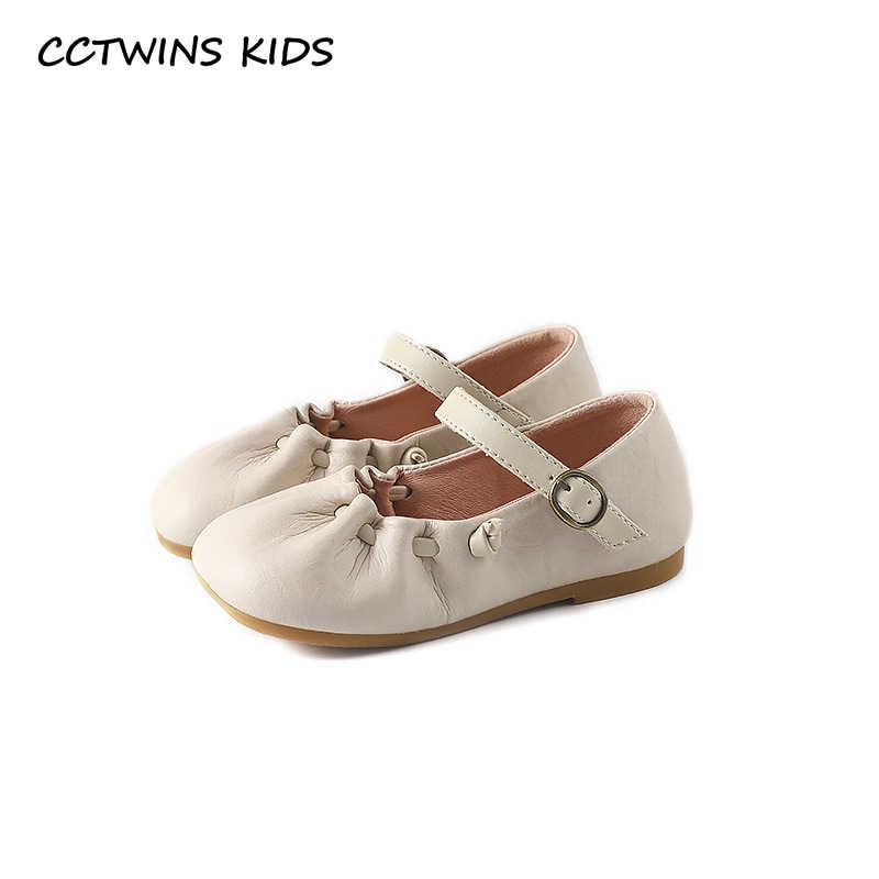 Çocuklar bebek ayakkabısı 2019 Sonbahar Moda Kız Prenses Parti Düz Yürüyor Gerçek Deri Ruffles Çocuklar için siyah ayakkabı GM2422