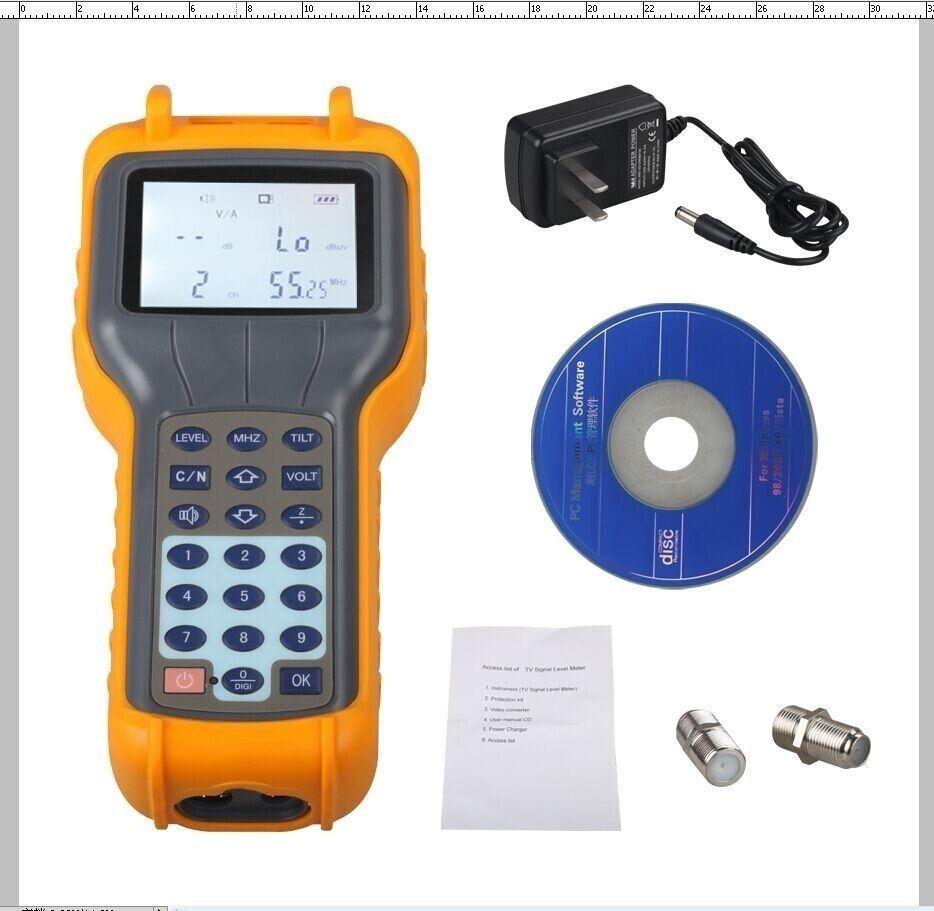 RY S110 Digital Signal Level Meter Catv kabel TV DB Tester Mess 46 ...
