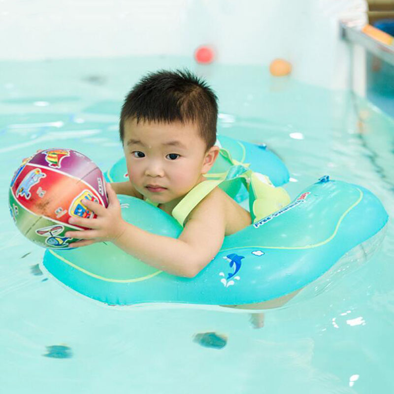 New Baby Swimming Ring Infant Bathing Circle Armpit Floating Kids Swim Pool Accessories Trainer Inflatable Double Raft Rings Soft And Light
