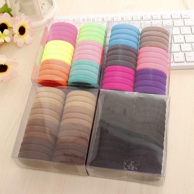 24 pcs/pack Hair Accessories Sale Multicolor Elastic Durable Band Hair Rope Felt Circles For Women Kids Headwear