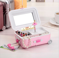Valentine S Day Gift Luggage Music Boxes Rotating Girl Music Box Fashionable Jewelry Boxes For Lover