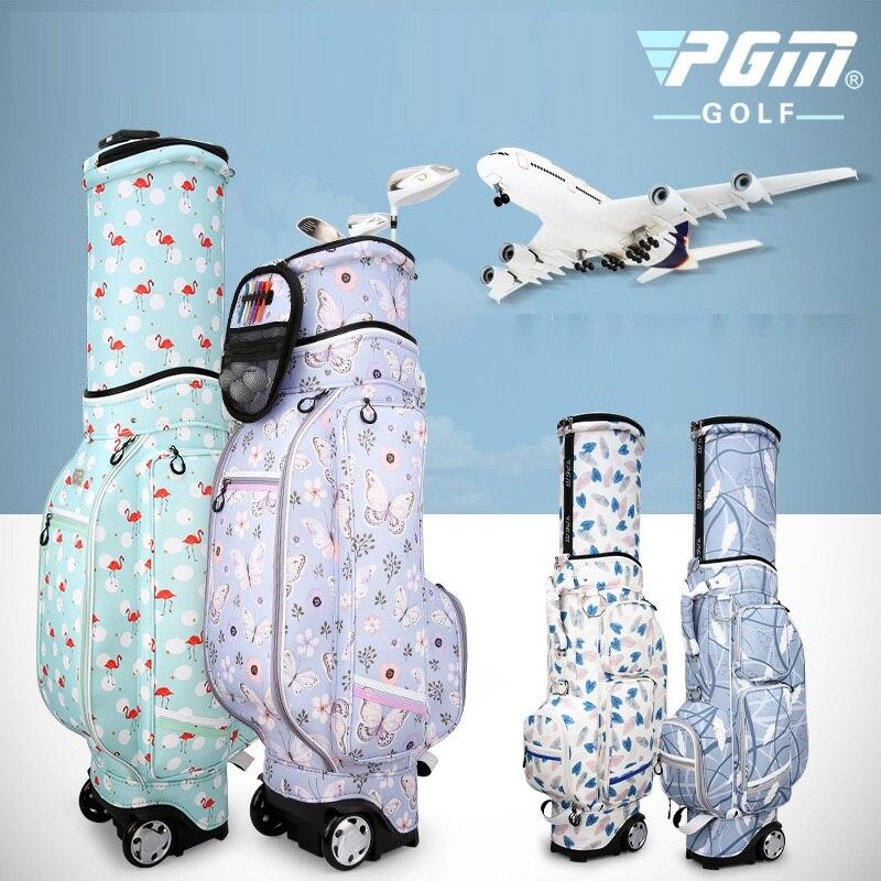 Pgm sac de voyage de Golf pour femmes roues Stand Caddy Airbag vol sacs d'aviation étanche haute capacité sac de chariot de Golf D0476