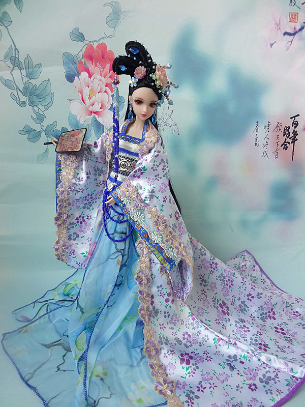 12 Collectible Chinese Princess Dolls Vintage BJD Girl Doll Oriental Dolls Toys With Flexible Joints Body Souvenir Gifts pure handmade chinese ancient costume doll clothes for 29cm kurhn doll or ob27 bjd 1 6 body doll girl toys dolls accessories