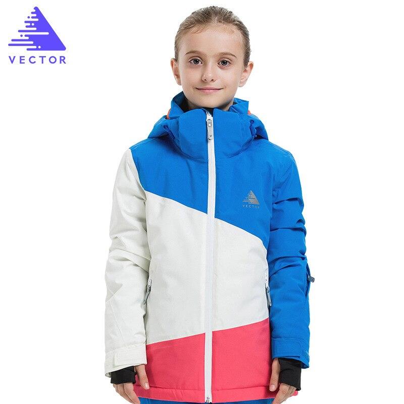 Girl Ski Jackets Winter Outdoor Children Clothing Kids Waterproof Windproof Warm Skiing For Girls