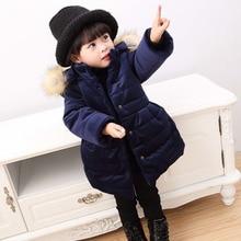 Winter Jacket for Girls Children Hooded Down Cotton Girls Parka Kids Winter Outerwear Coat Girls Winter