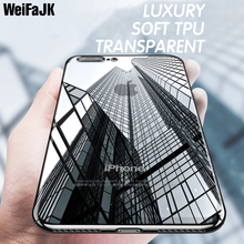 WeifaJK Phone Case For iPhone 8 7 6 6s 5 Luxury Plated Transparent TPU Soft Silicone Cases For iPhone 6 6s 7 8 X Plus Back Shell