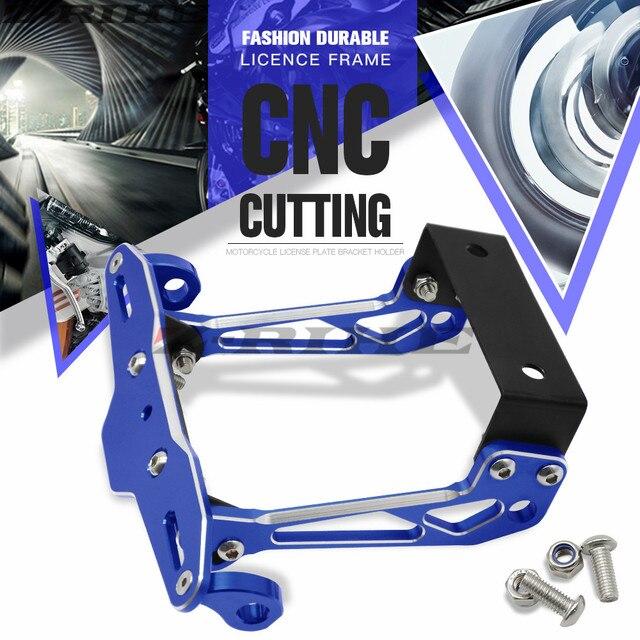 Motocicleta licencia Marcos aluminio Marcos ángulo ajustable soporte ...