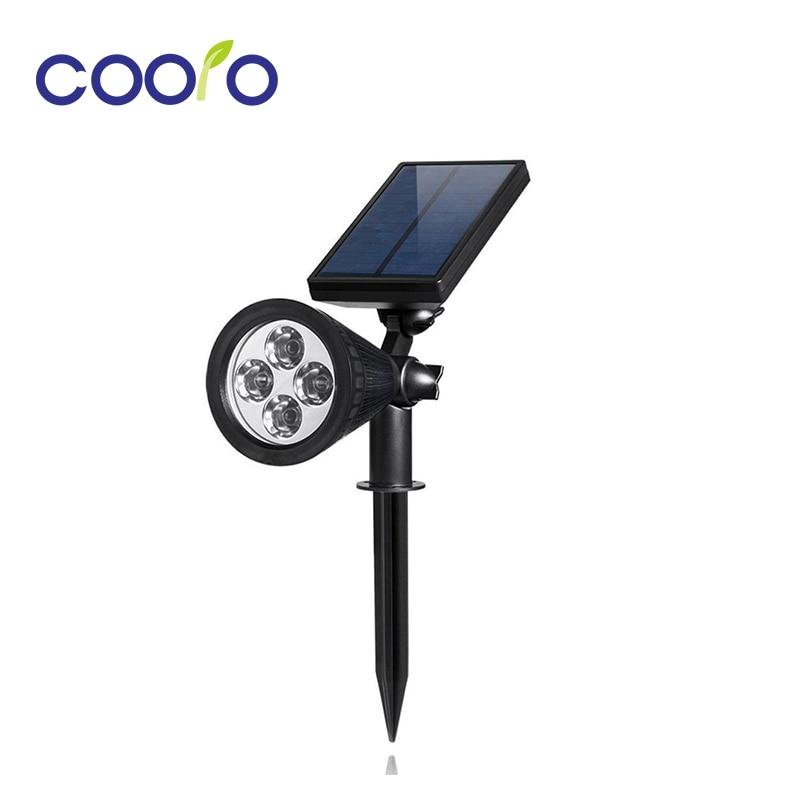 Waterproof IP44 LED Solar Light 4LEDS ABS Solar Power Energy Garden outdoor Ligh RGB/WarmWhite/White led solar lamp