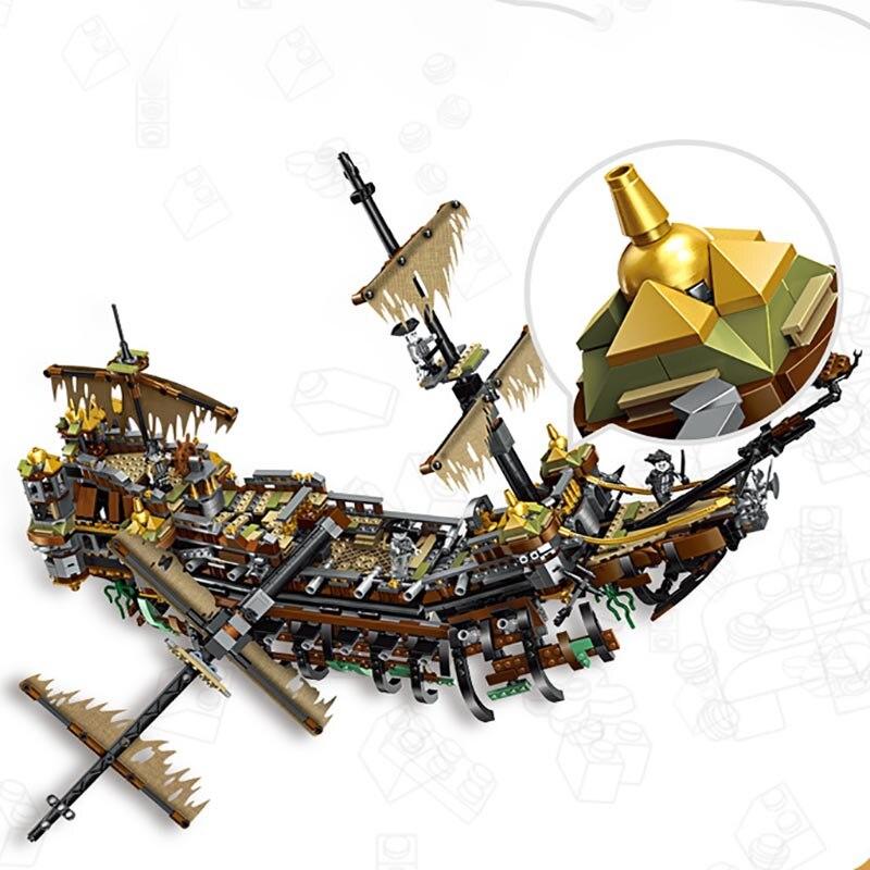 Film Nave Pirata Salazar Pirati dei Caraibi la Slient Mary Set Modello legoinglys città Blocchi di Costruzione Per Bambini Regali Giocattolo-in Blocchi da Giocattoli e hobby su  Gruppo 2