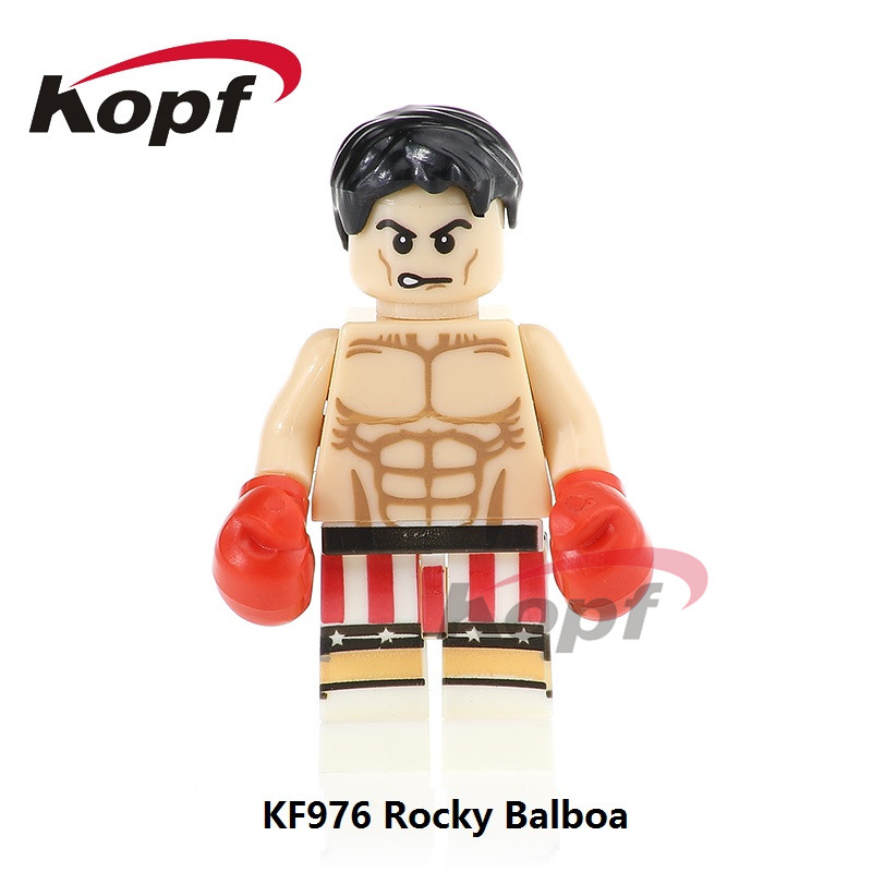 Single Sale Super Heroes Rocky Balboa Clubber Lang Carnage Spiderman Bricks Building Blocks Christmas Toys for Children KF976 hot stamping foil holographic foil silver cat eye pattern hot press on paper or plastic heat transfer film 64cm x 120m