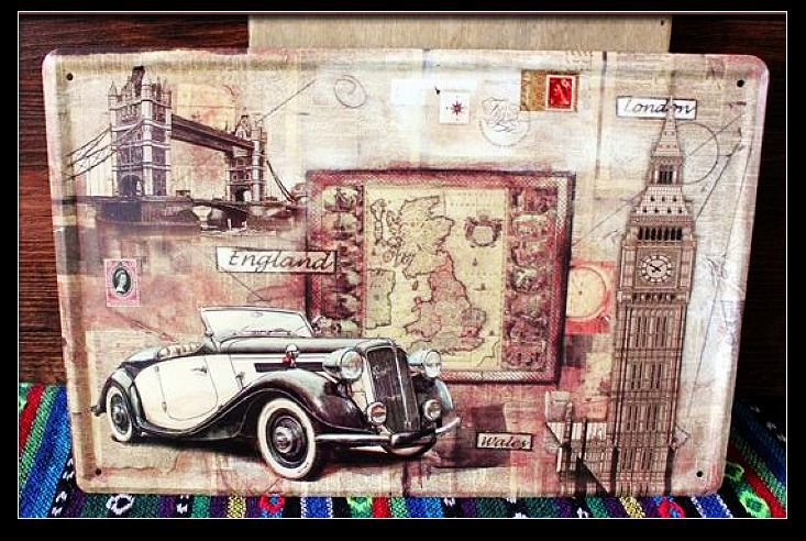 50pcs Lot Metal Sign Shabby Chic Wholesale Cheap Iron Painting Home Decoration Vintage Car Poster