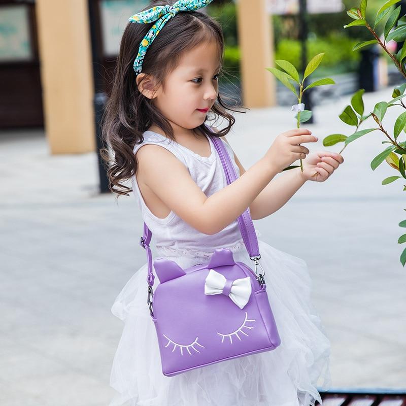 Lovely Kids School Bags With Bow Cat Ears PU Leather Backpacks Shy eyes Girls Women School Shoulder Bags Travel Rucksack Mochila