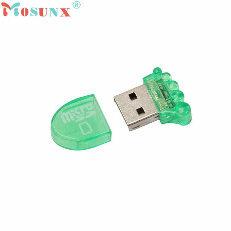 D3 Micro قارئ البطاقات SD Mini USB 2.0 Micro SD TF T-Flash ذاكرة محوّل قارئ البطاقات سهل التوصيل لعب التركيب
