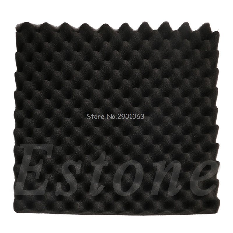 Acoustic Sound Stop Absorption Egg Shell Shape Pyramid Studio Soundproof Foam Sponge 50x50x3cm