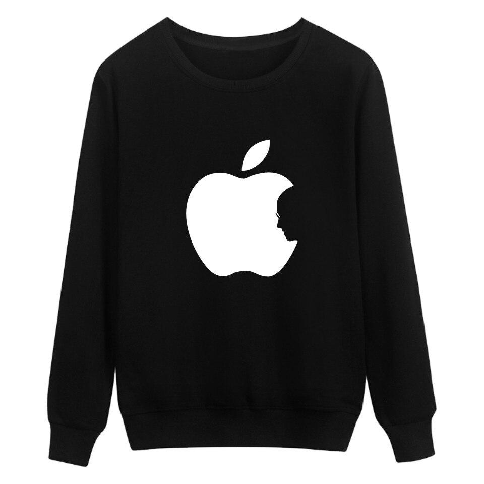 Logo Apple Print Hoodies Black Men/Women Brand Fashion And Hip Hop Style Luxury In Plus Size 4XL Cotton Funny Sweatshirts