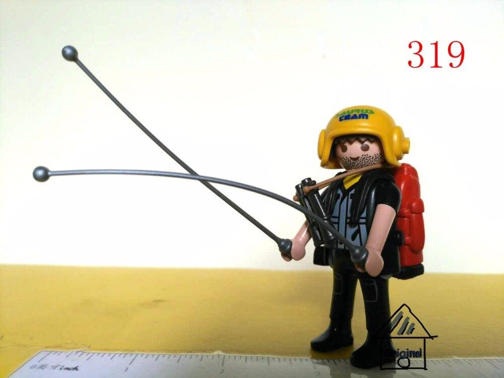 1 komplekts playmobil rotaļlieta izlikties rotaļlieta atklāj strādnieku Darbība Skaitļi mini figūra bērnu rotaļlietu dāvana