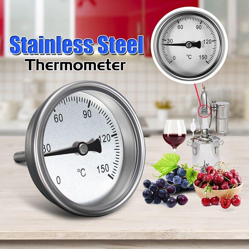 BRICOLAGE Home Brew Classique Thermomètre Bière Vin Fruits Alcool Distillateur Partie Vin Machine Vapeur Accessoires Thermomètre