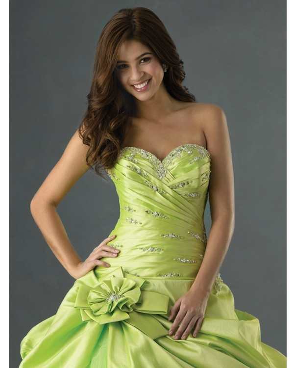 Cheap Quinceanera Ball Gowns Under 50 Sweetheart lime green ...