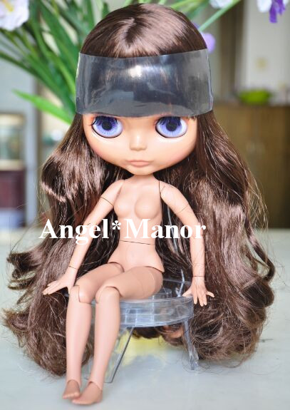 blyth doll with jointed body, brown long hair,dark skin ,Valentine's day present,GHT008