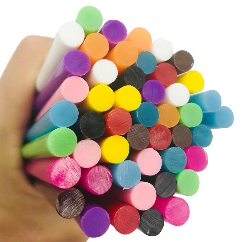 Mix Colorful Glue Sticks 7MM For Electric Glue Gun Craft DIY Hand Repair Accessories Adhesive Sealing Wax Stick  7x100MM