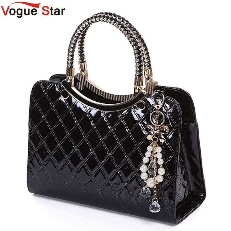 цены Vogue Star Brand bag cute 2018 New Fashion Designer  PU Leather Tote Shoulder Bag Handbag Ladies Messenger chain plaid  YK40-964