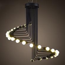 Американский промышленный Ретро Открытый Подвесные Светильники Лофт Утюг Droplight Эдисон светодиодные лампы черный спираль света E14 освещение украшения