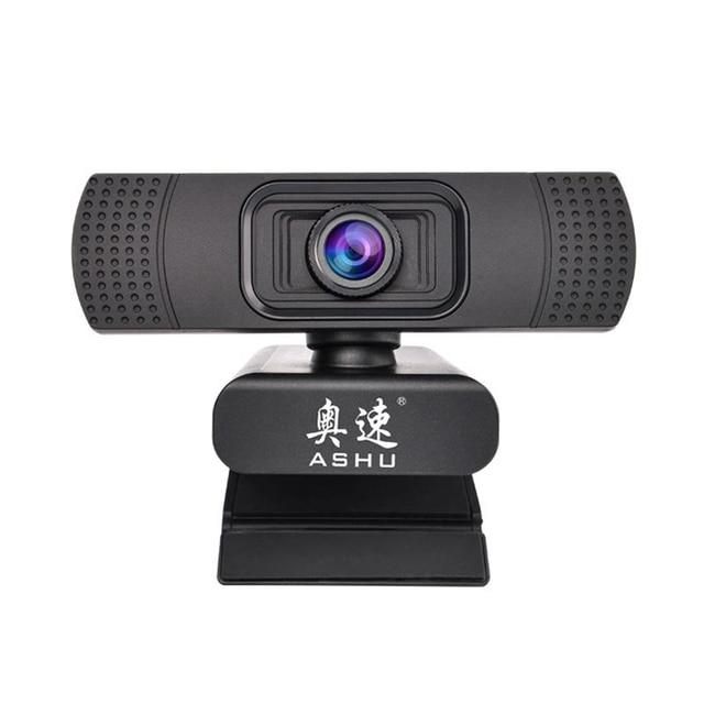 ASHU เว็บแคม 1080 P USB 2.0 พร้อมไมโครโฟน Full HD 1920x1080 P กล้อง CMOS 2.0 ล้านพิกเซล Web Cam