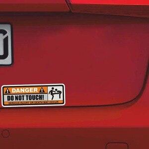 Image 5 - YJZT 2X 12.5 センチメートル * 3.9 センチメートル危険ないタッチ車のステッカーおかしい重傷または死発生デカール PVC 12 0915