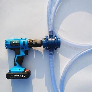 Image 1 - Blue Self Priming Dc Pumping Self Priming Centrifugal Pump Household Small Pumping Hand Electric Drill Water Pump