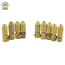 9pc/Set Mini Fixture Chuck Collet 2.3mm 3.17mm Brass Electric Motor Shaft Clamp For 0.7mm-3.2mm Drill for Woodworking