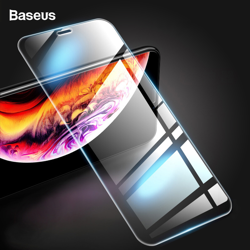 2PCS/Pack, Baseus 0.3mm Screen Protector For IPhone Xs X Tempered Glass 9H Protective Front Glass Film For IPhoneXs X 10 Glass