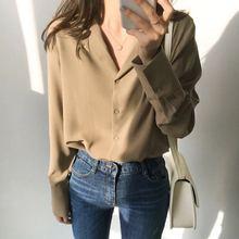 solid white chiffon blouse