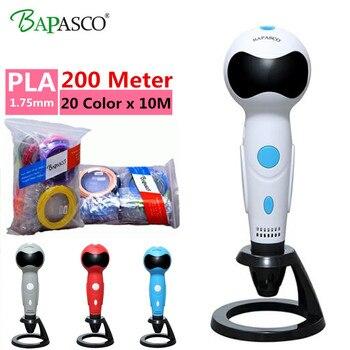 Freeshipping bolígrafo 3D BAPASCO Robot 06B bolígrafo 3D + pluma PLA gratis 3D con función de voz juguetes inteligentes para los mejores regalos de los niños