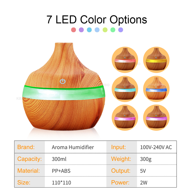 Wood Grain Essential Oil Aroma Humidifier