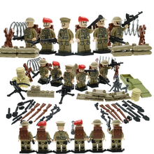 WW2 Militaire Série Bloc Figure ROYAUME-UNI Britannique 8e Armée Campagne D'afrique Du Nord 6 Soldat Mini Briques Jouets Building Block