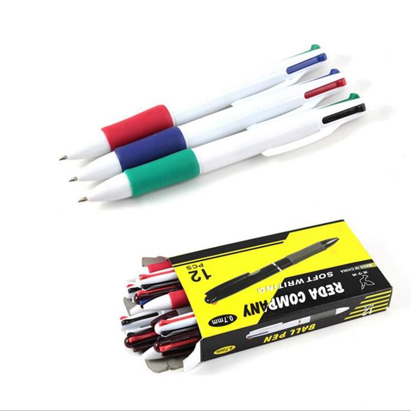 Шариковая ручка, ластик 0,7 мм, 6 шт., 4 цвета в 1, разноцветные канцелярские принадлежности, школьные принадлежности, принадлежности для офиса, ...