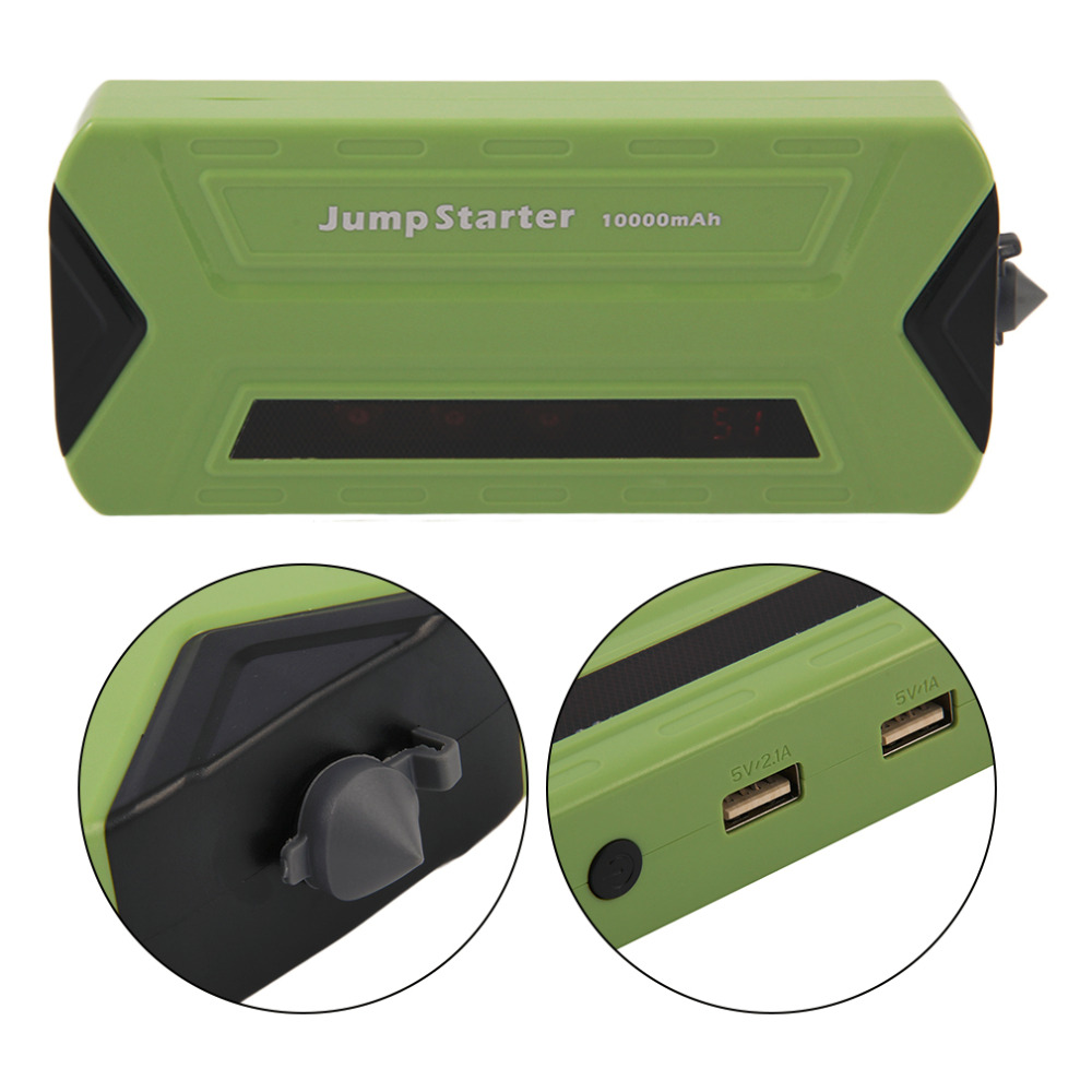 New For Petrol and Diesel Jump Start TPS990 Portable 10000mAh  Car Jump Starter Power Bank Green Auto Battery Emergency Charger 2017 30000mah 12vportable car jump booster led charger emergency start power bank new