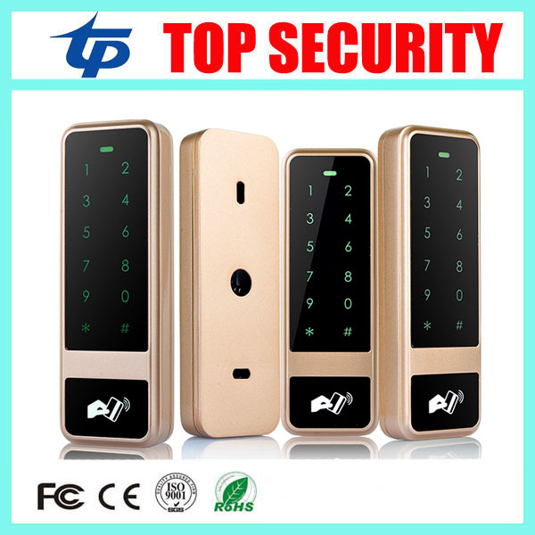 125KHZ RFID smart card door access control terminal touch keypad surface waterproof access controller 8000 users card reader good quality metal case face waterproof rfid card access controller with keypad 2000 users door access control reader
