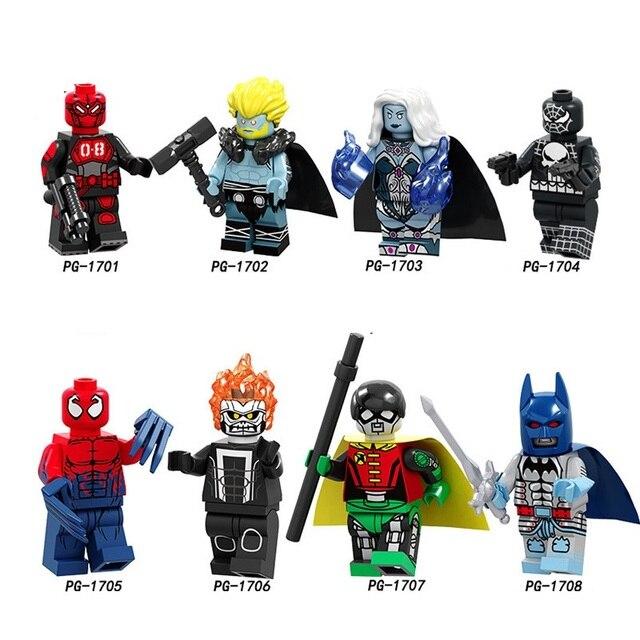 Super Heróis Homem De Ferro Batman Capitão América Spiderman Modelo Kits de Construção de Brinquedo Para Crianças