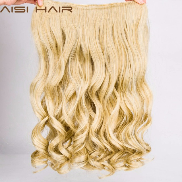 """AISI HAIR 22"""" 17 Colors Long Wavy High Temperature Fiber Synthetic Clip in Hair Extensions for Women"""