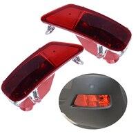 beler 1 Pair Rear Tail Left Right Bumper Fog Light Lamp Cover Case Shell For Peugeot 3008 2009 2010 2011 2012 2013 2014 2015