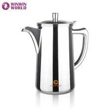 Großhandel 2L Edelstahl 304 Kaltem Wasser Topf für Zuhause Hochwertige Tee Kaffee Wasserkocher Metall Teekanne Saft Krug WW-IC001