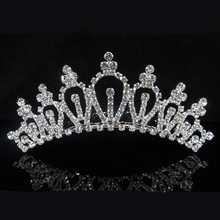 TREAZY 5pcs/lot Crystal Heart Shape Small Wedding Crowns Tiaras Hair Combs Bridal Bridemaid Hair Jewelry Wedding Accessories