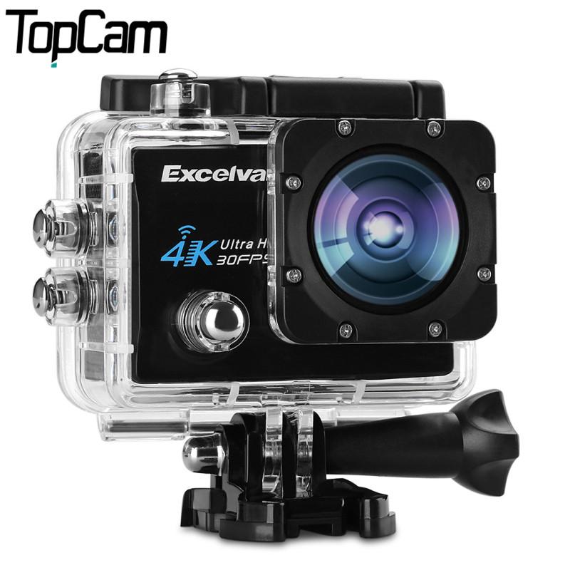 Prix pour Excelvan q8 d'action caméra 2.0 pouce wifi 4 k 30fps 16mp h.264 30 m étanche 170 objectif grand d'action dv sport caméra