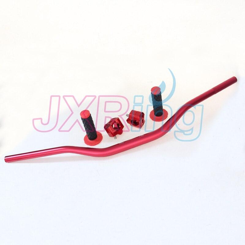 Red PRO TAPER Handlebar Bar Riser 28mm+fat Handle Bar Pad