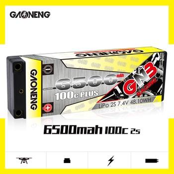 Newest Gaoneng GNB 6500mAh 2S 7.4V 100C PLUS Hardcase LiPo Battery pack 5.0mm Plug T XT60 Plug for 1:10 1/10 RC Car RC Boat