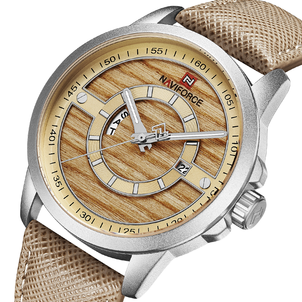 NAVIFORCE Top Brand Military Watches Men Fashion Casual Leather Sport Quartz week date Wristwatches Male Clock Relogio Masculino