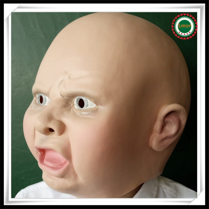 Crying Baby Mask Mad Baby Mask Adult Halloween Costume Accessory