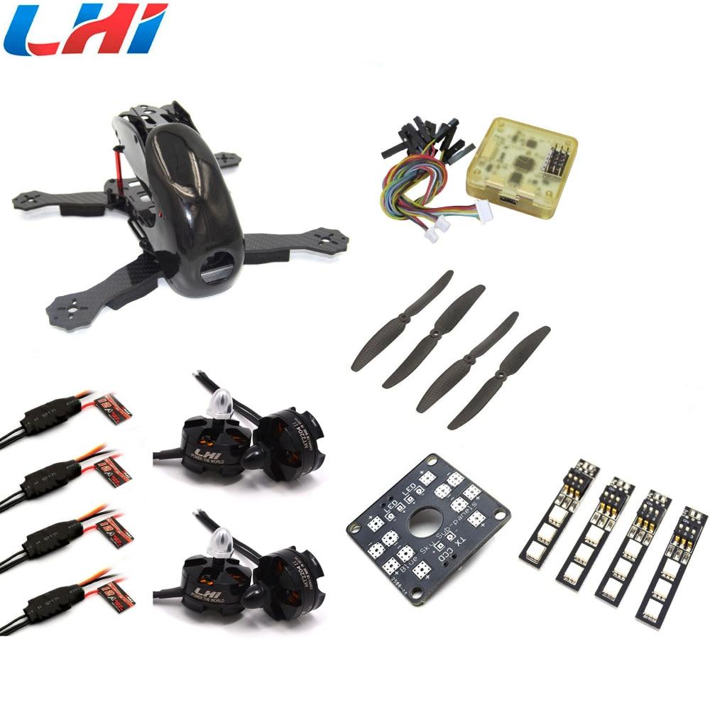 Robocat 4-Axis Carbon Fiber Quadcopter Frame CC3D LHI 2204 Motor 12A ESC props ~Black carbon fiber mini qav250 c250 quadcopter frame motor 12a esc cc3d flight control