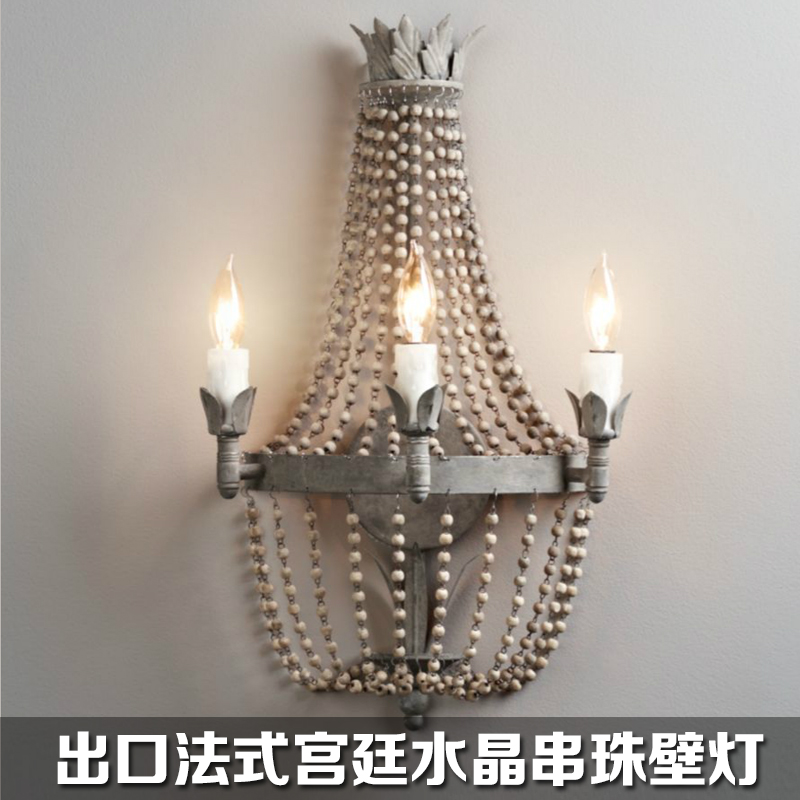 French retro do the old style palace Princess crystal wall lamp bedroom bedside wall lamp